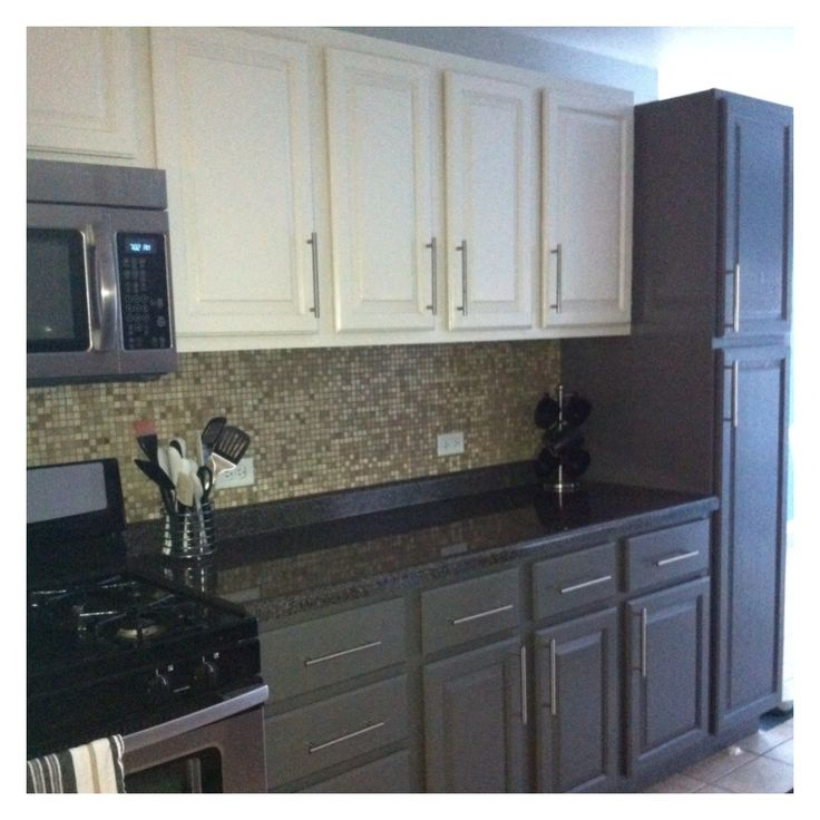 Two Tone Kitchen Cabinets Ideas: Don't Like The Hardware… But Like The Color Combination On