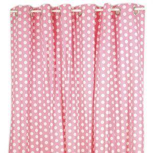 Polka Dot Shower Curtain Girl Chive