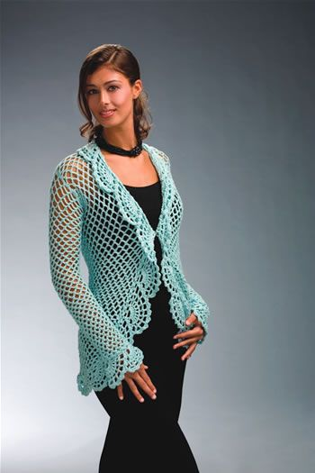 Lace Cardigan - free crochet pattern