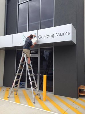 Exciting day today here at Geelong Mums HQ....we are officially branded! Big thanks to Brad at White Signs!