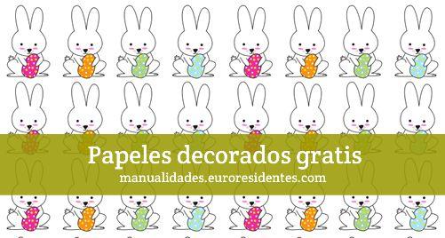 Conejitos de pascua papel decorado http manualidades - Papel decorado manualidades ...