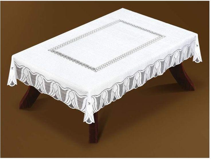 Waldek #obrus_z_żakardu kolor biały 160 x 125 cm Piękny biały obrus z wysokiej jakości żakardu.  Wyjątkowy obrus w atrakcyjnej cenie, który pięknie przyozdobi każdy stół tworząc piękną dekorację.  Delikatny krój wprowadzi dużo blasku i elegancji do twojego wnętrza.  Kolor: biel Rozmiar: szerokość: 125 cm  długość: 160 cm  Kształt: prostokąt Materiał: żakard Obrus zapakowany w estetyczne foliowe opakowanie. Polski produkt wysokiej jakości.   kasandra.com.pl