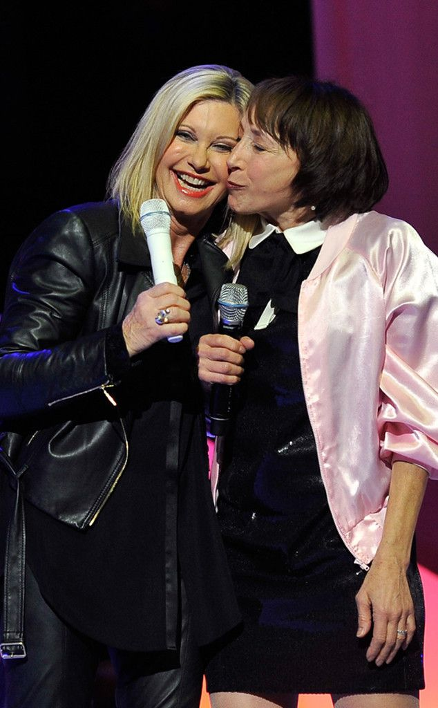 Olivia Newton-John, Didi Conn   To cute! It's about darn time... I love me some Sandra  Dee and Frenchie @NanaBarraza