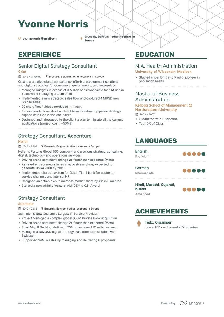 Top Strategy Consultant Resume Examples & Samples for 2020