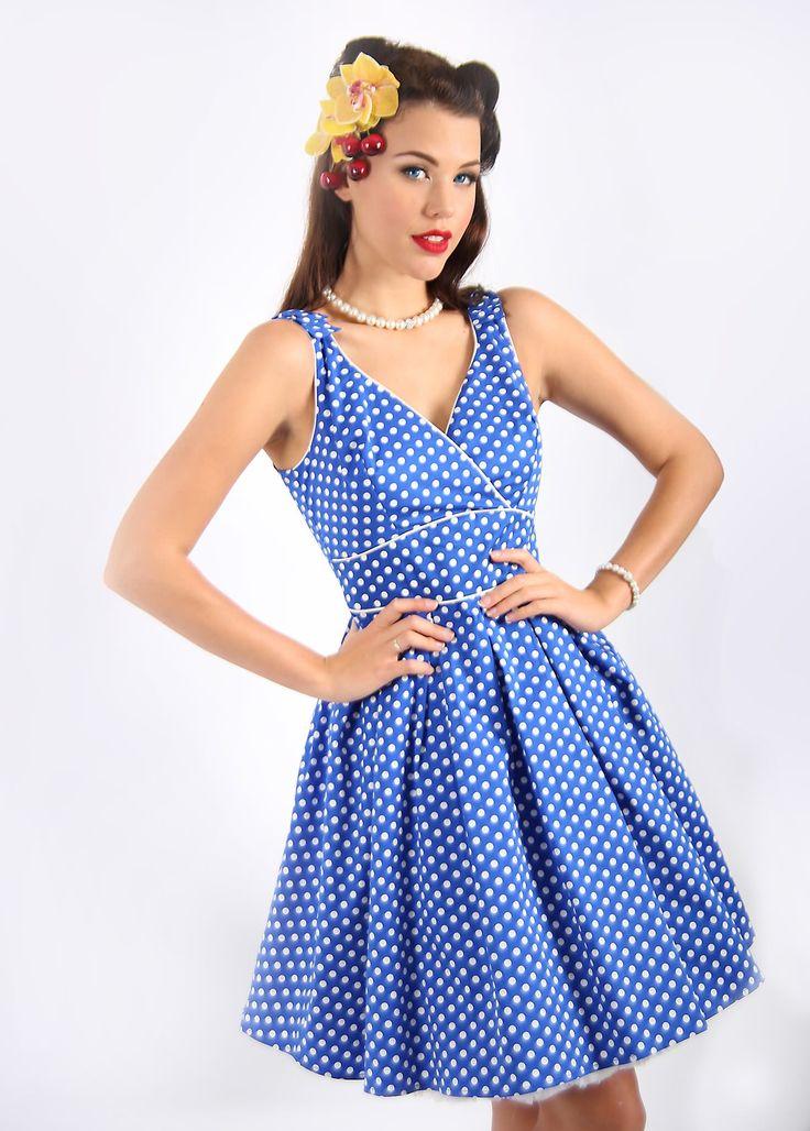 Girl Crazy Blue Bow Dress