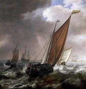 Simon de Vlieger - A Dutch Ferry Boat Before a Breeze.jpg
