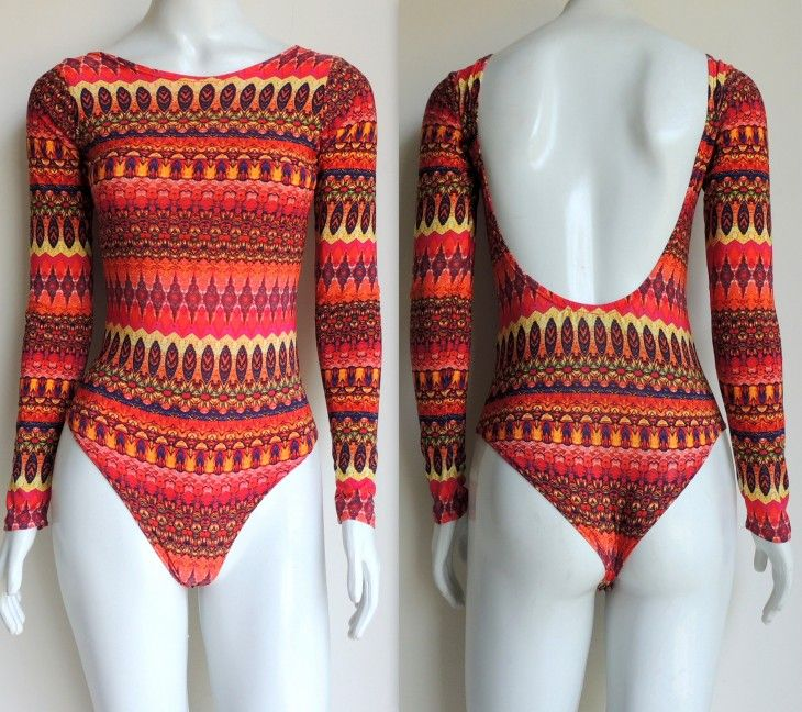 body-estampado-étnico-tribal-colorido-praia-maio-maiô-laranja-coral-hora-de-diva