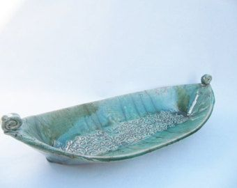 ceramic boat raku fired