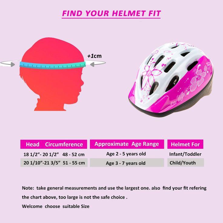 Bebefun Girl And Boy Kids Bike Helmet Accurate Adjustable Size