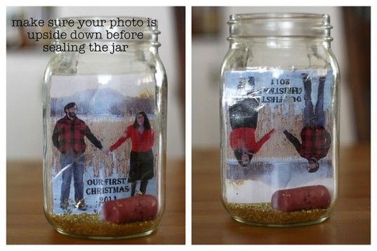 Photo snow globe, DIY snow globe, DIY picture snow globe, The Manzanita Blog snow globe