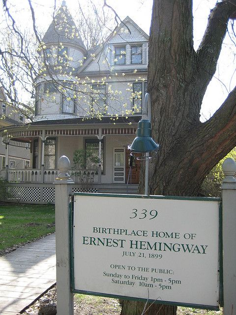 Ernest Hemingway Birthplace in Oak Park, Illinois - Tourists who are traveling in the Oak Park area can stop by to see the birthplace of one of America's favorite authors, Ernest Hemingway. There is  small fee for admission but they offer discounts for seniors, students and discounts. (https://www.facebook.com/TravelingWarrior) #Hemingway #attractions