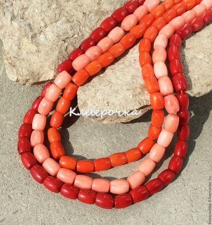 Для украшений ручной работы. Ярмарка Мастеров - ручная работа. Купить Коралл 9 мм бочонок натуральный бусины для украшений. Handmade.