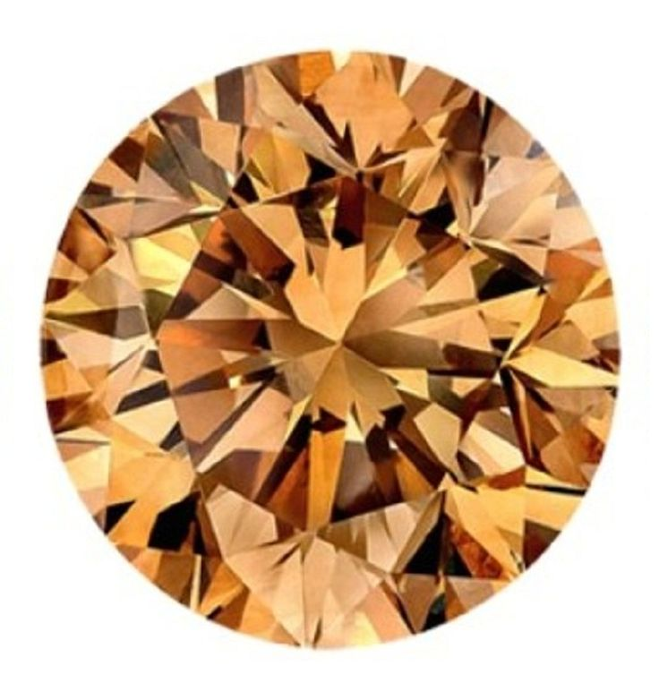 1.00 Carat Yellow Color Round Brilliant cut Loose diamond For sale