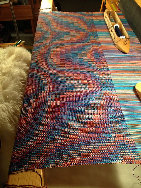 Ravelry: Judyknitnut's 36 - Echoes Table Mat - Polychrome doubleweave