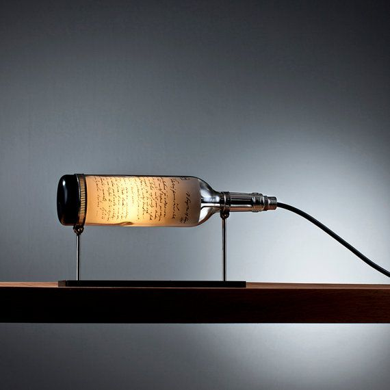 Patriot Reclaimed Wine Bottle Table Lamp with by DOworks on Etsy