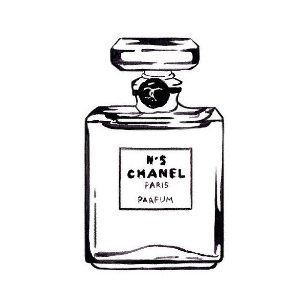 Chanel Perfume Bottle, White Space Watercolor Fashion Illustration,... (35 BRL) ❤ liked on Polyvore