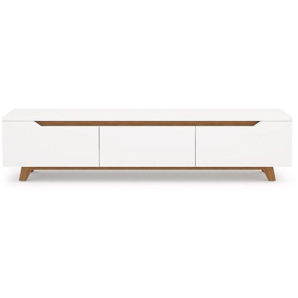 rove concepts mikkel tv stand white ash 795 liked on polyvore featuring