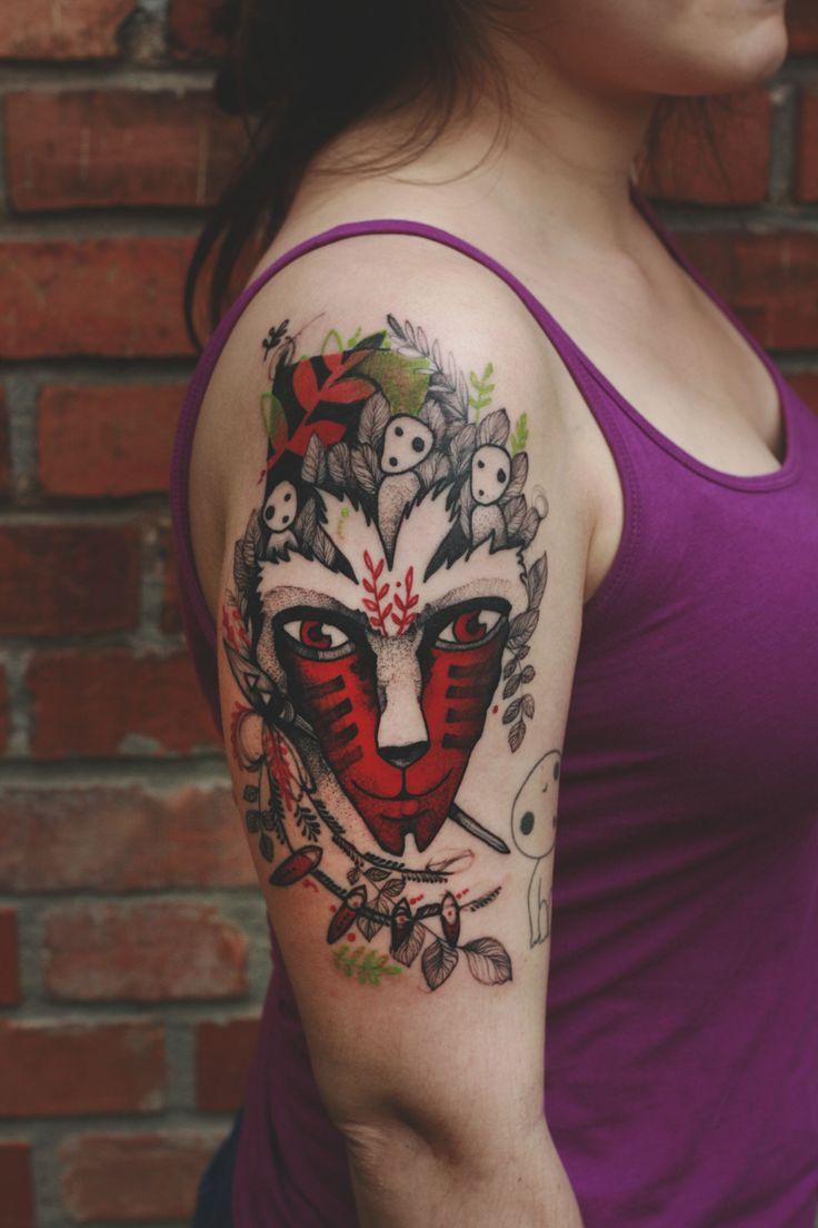 #ghibli #forest #spirit #mononoke #tattoo #tatuaz #tattoowork #project #design #ink #inked #graphic #tattuaggio #btattooing #tattuaje #illustration #татуировка #тату #krakow #berlin #wroclaw #warszawa #prague #praha #tetovani #tätowierung #tatuajes #dzolama #dzo #lama