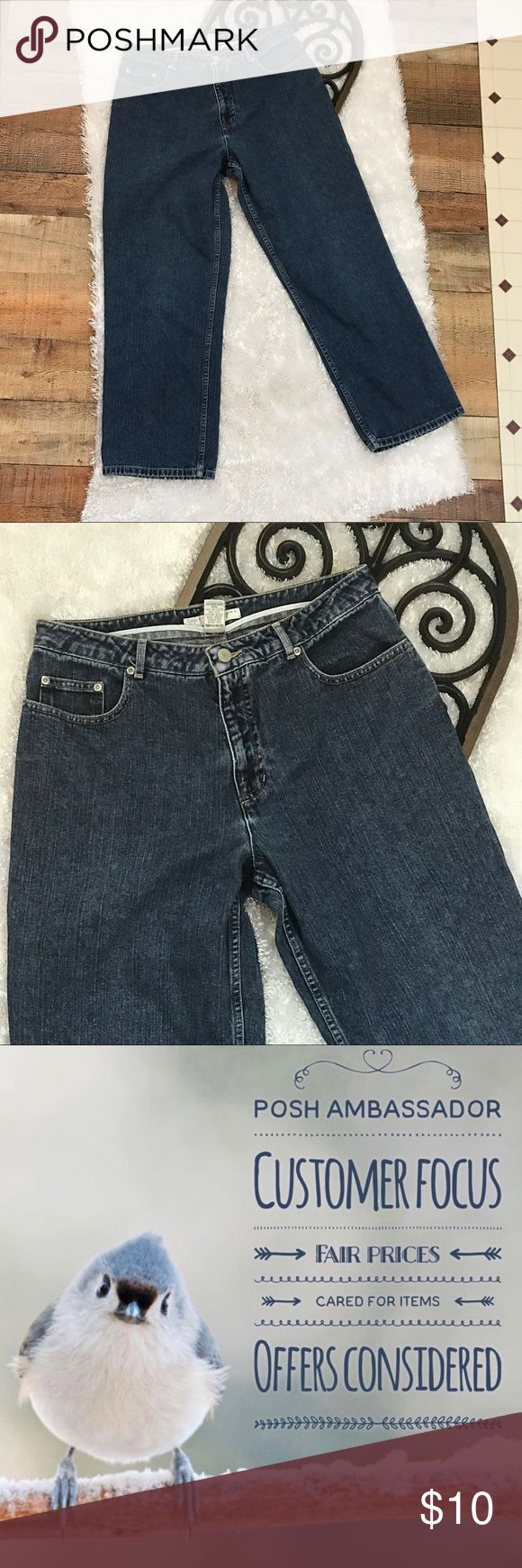 """Geoffrey Beene Straight Leg High Waist Jeans Gently used with no flaws To be confident these Jeans will fit you, compare these measurements with a favorite similar item from your closet: Waist 32"""" Rise 12"""" Inseam 29"""" Length 41"""" I ship Monday through Saturday weather permitting Thank you. Geoffrey Beene Jeans Straight Leg"""