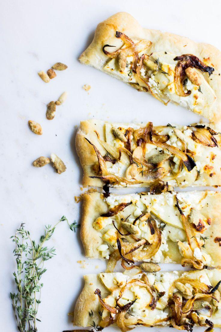 Apple Chevre Flatbread Recipe - absolutely gorgeous!