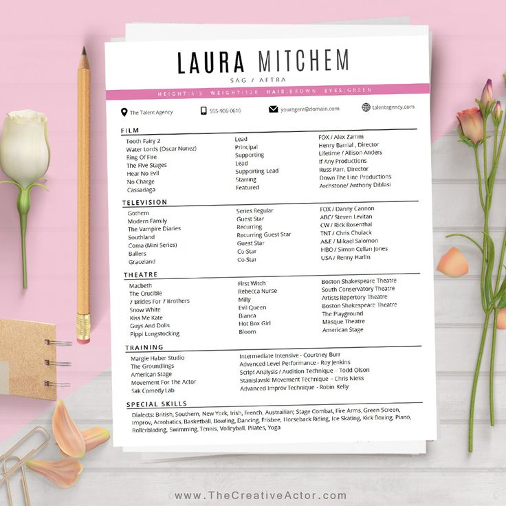 best 25  acting resume template ideas on pinterest