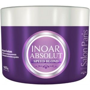 Inoar Absolut Speed Blond Máscara é um tratamento tonalizante que hidrata e nutre as fibras capilares.