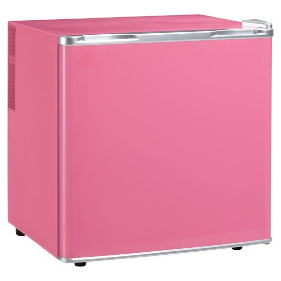 Someone is gonna need this for college, I bet!  :)  pink mini fridge- want!