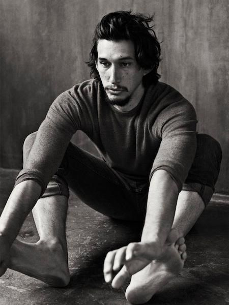 Adam Driver. Great actor, sexy, and a veteran of the marines. Awesome plus he's going to be in Star Wars VII!!!!!!