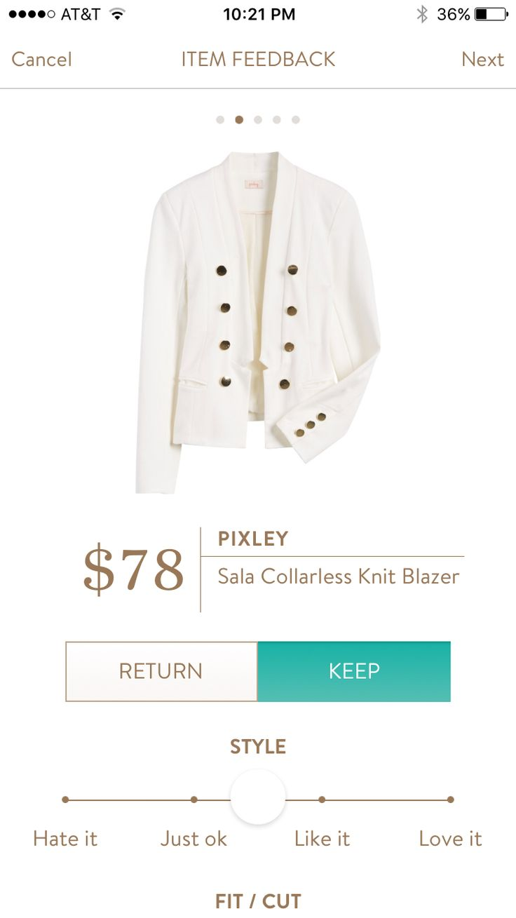 Stitch Fix: Like this Pixley knit blazer. Need more light neutral jackets for work in the summer.