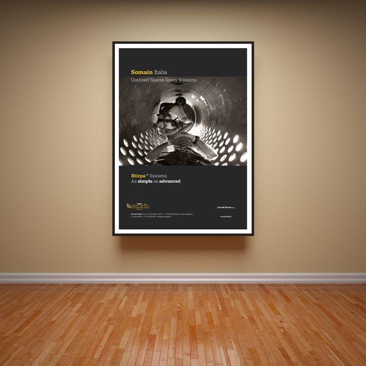 CLIENTE: Somain. ADV per Xtyrpa Systems. ART DIRECTOR: Cristiano Garonzi. #adv #pubblicità #campagna #sicurezza #grafica #design