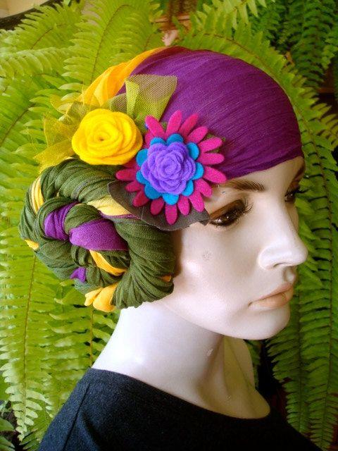 chemo turban headscarf Chemo Hat Headwear by GypsyLoveHeadbands