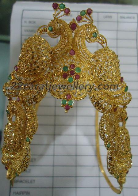 Jewellery Designs: Heavy Vanki or Bajuband