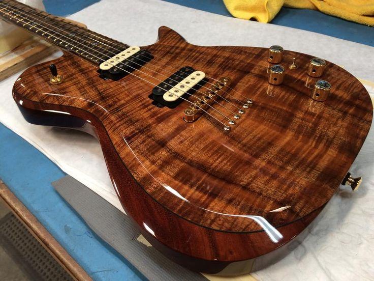 Kiesel Guitars Carvin Guitars Flame Koa SCB6M | Karvin ...