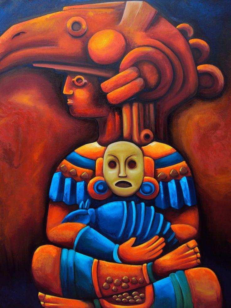 Dios Zopilote. Oil On canvas 1.80*.150 cm.