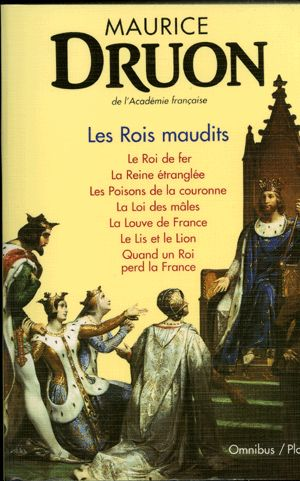 Maurice Druon : The Damned Kings. Masterfully drawn by this member of the Academie Française, it is a sober account of the last days of the Capet dinasty in the early XIV century, expanding from the curse set upon Philippe IV the Fair by the burning great maester of the Templar Knights and throughout three decades of unfortunate reigns. This 7book set of the most accurate European historical novel written shows the life and deeds of the French Royal family and its entourage: a true…