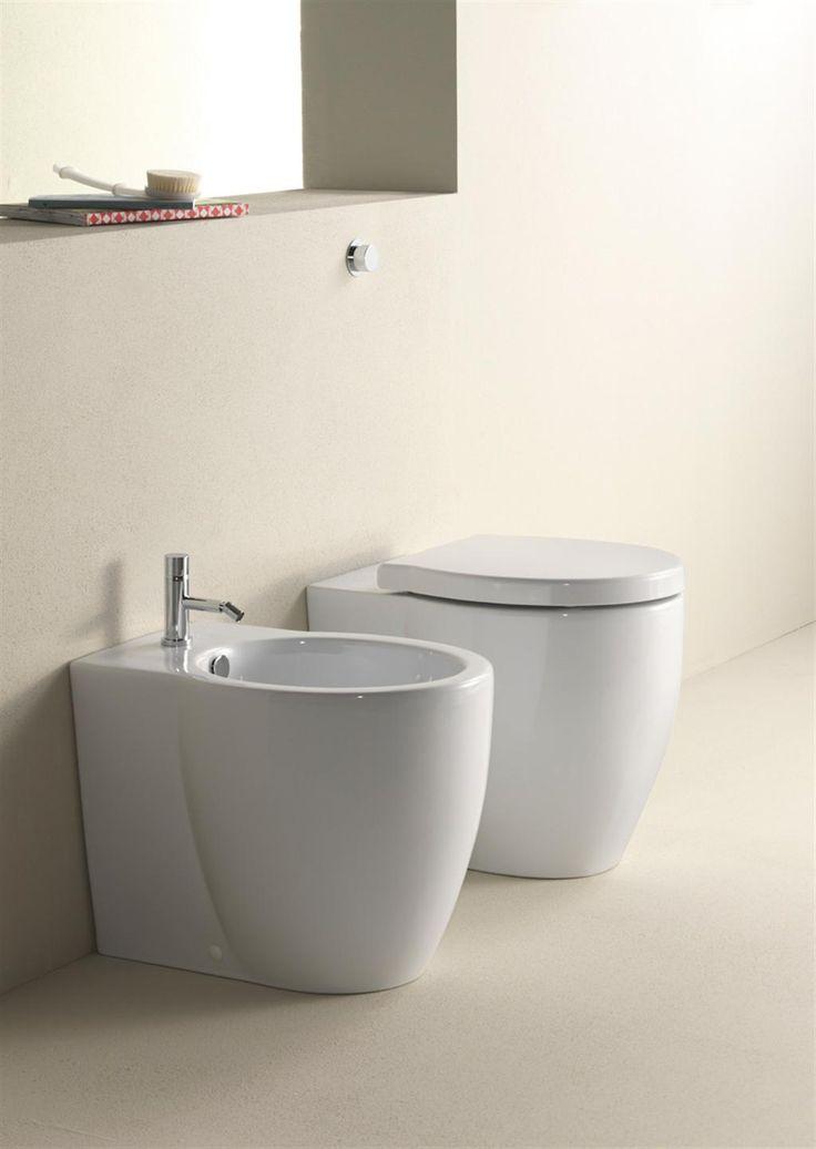Panorama wc e bidet 55x37 661011 serie per sanitari della for Gsi sanitari
