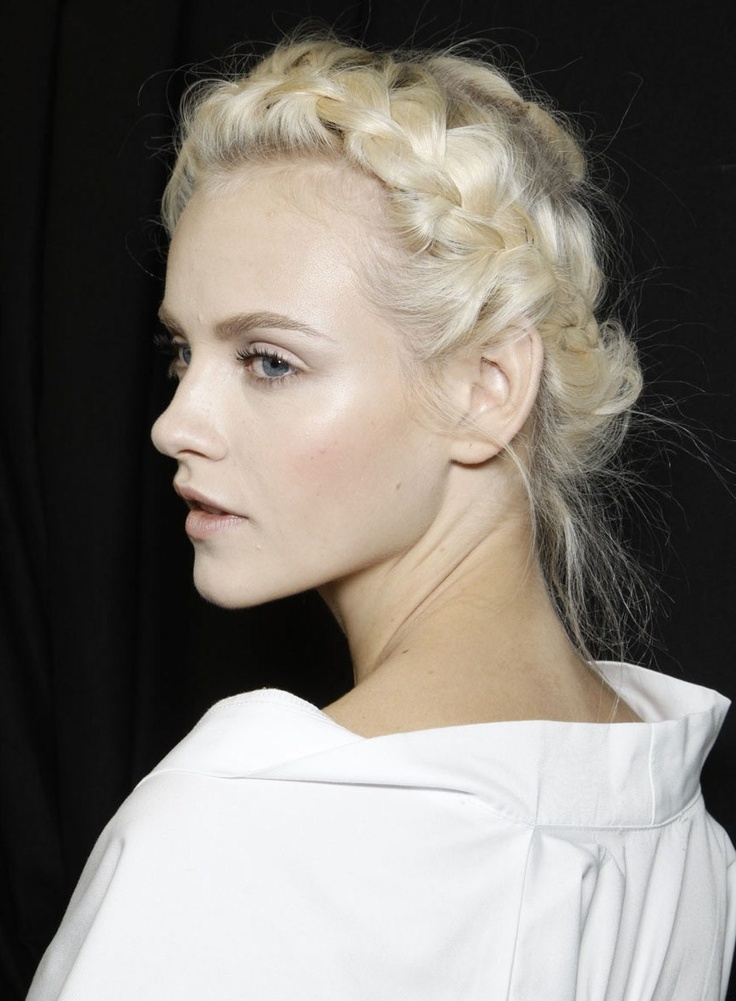 Ginta Lapina backstage at Valentino S/S 2012