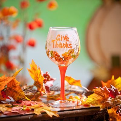 this would be a great wine glass for Thanksgiving dinner.  Kirklands