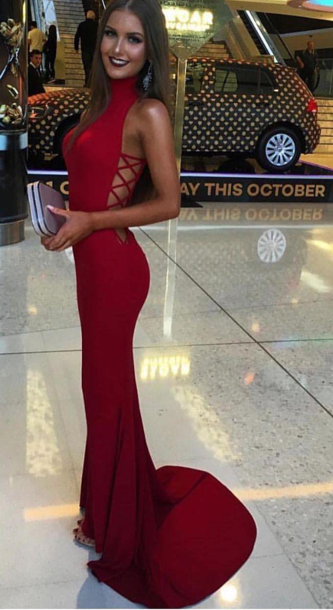 The Kenya high-neck Balmain style dress Evening Gown / Formal Dress / Prom Dress / Maxi Dresses / Unique Dress / pageant dress / mermaid dress