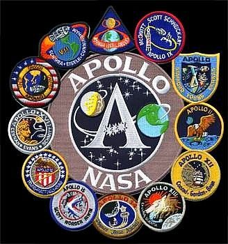 Large and Combined Mission Patches compliment any color of jean jacket and show support of the space program (even for the visually impaired)