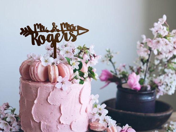 Engagement Cake Topper Wedding Cake Topper for Bridal Shower Mr and Mrs Wedding Cake Topper Rustic Wood Cake Topper Boho Wedding Cake Topper by HappyTopperStore on Etsy https://www.etsy.com/listing/522556713/engagement-cake-topper-wedding-cake