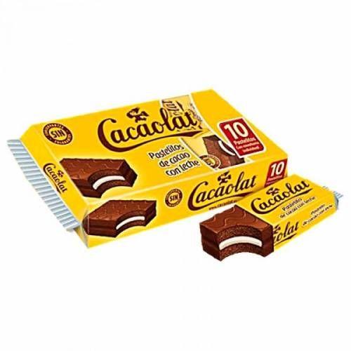 10 Pastelitos de cacao con Leche CACAOLAT de 35 gramos