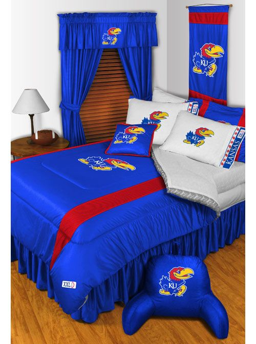 kansas jayhawks decor   2pc NCAA KANSAS JAYHAWKS PILLOWCASES - Basketball Logo Decor Bedding ...