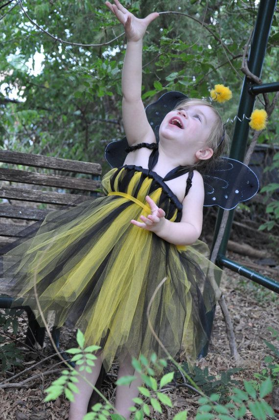 Bumble Bee Tutu Dress #tutu #dress #halloween #costume #bee