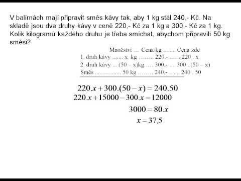 Slovní úlohy - směsi - YouTube