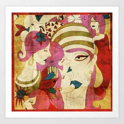 Heads Art Print by Helena Hotzl - $22.88