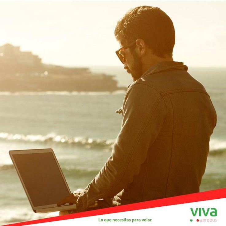 ¿Te gustaría tu oficina en la playa? ¡Escápate de la rutina! http://www.vivaaerobus.com #PosMeEscapo