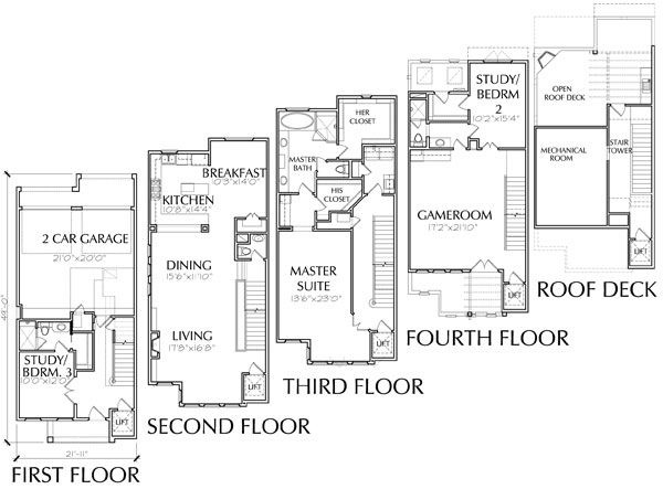 819 best ideas about home floorplans condos on pinterest for Townhouse floor plan luxury