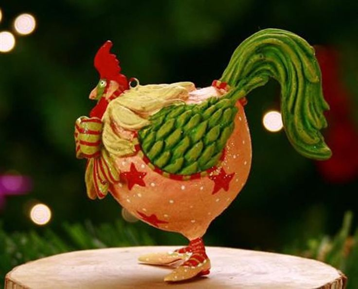 XMAS KRINKLES'DONALD THE ROOSTER' MINI ORNAMENT 2011 PATIENCE BREWSTER NIB
