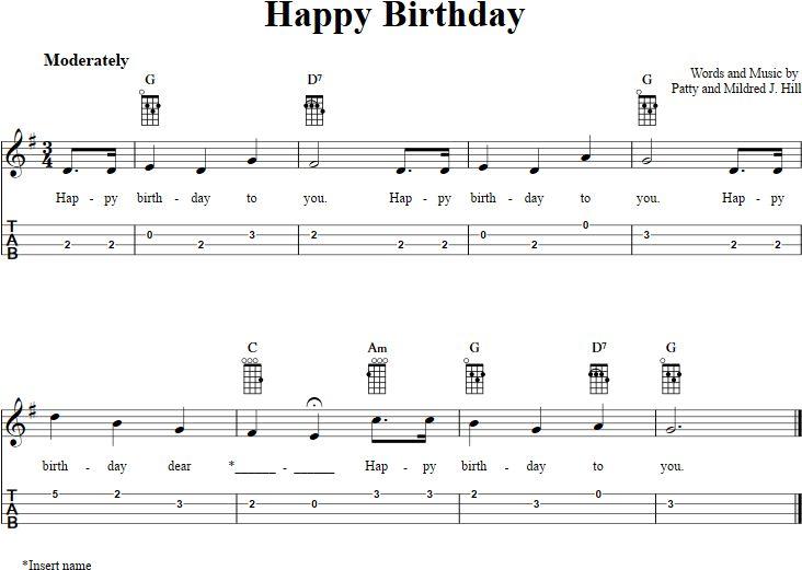 happy birthday ukulele